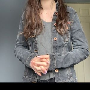 Vintage Tommy Hilfiger dark grey jean jacket